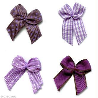 Noeud Recreatys Violet - Assortiment de 10 pièces