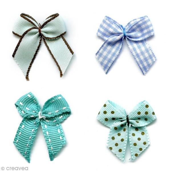 Noeud Recreatys Bleu turquoise - Assortiment de 10 pièces - Photo n°1