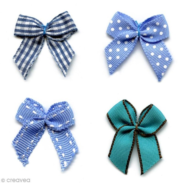 Noeud Recreatys Bleu - Assortiment de 10 pièces - Photo n°1