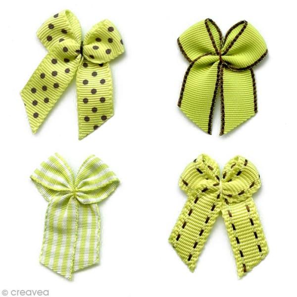 Noeud Recreatys Vert anis - Assortiment de 10 pièces - Photo n°1