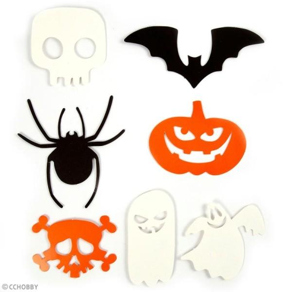 Motifs déco en papier - Halloween - 5 à 10 cm - 50 pcs - Photo n°2