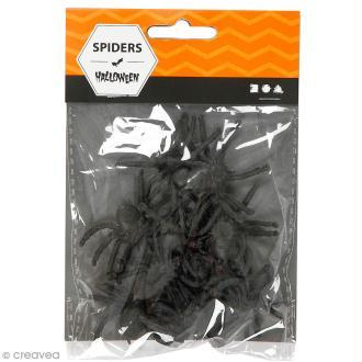 Fausses araignées en plastique - 10 pcs