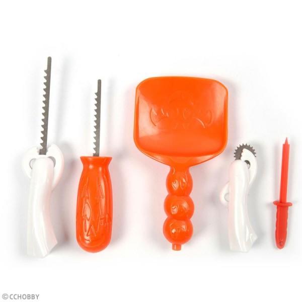 Kit pour scultpure de citrouille - 5 outils - Photo n°4