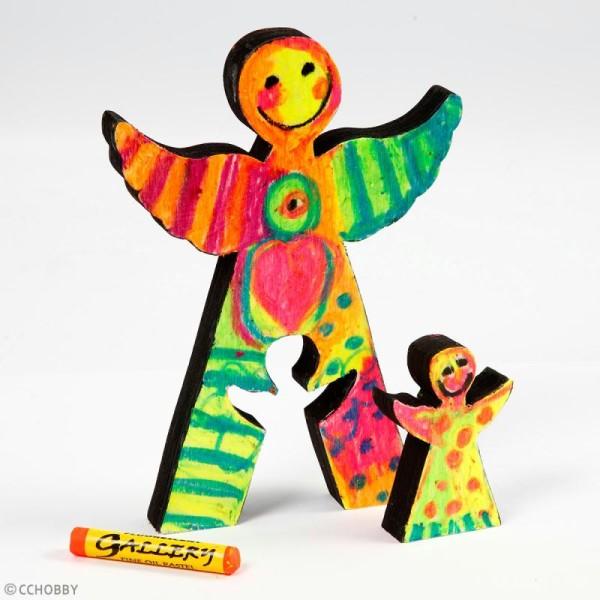 Figurines en bois à décorer - Fantôme d'Halloween - 6 cm et 11,5 cm - 2 pcs - Photo n°2