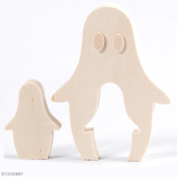 Figurines en bois à décorer - Fantôme d'Halloween - 6 cm et 11,5 cm - 2 pcs - Photo n°3