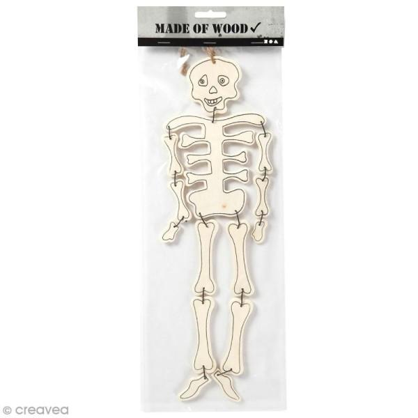 Squelette articulé en bois à décorer - 35 cm - Photo n°1