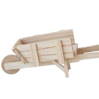 Mini brouette en bois 17 cm