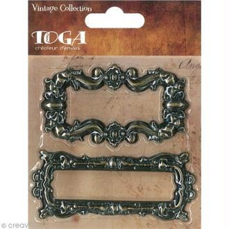 Porte étiquette en métal - Vintage - 2 pièces