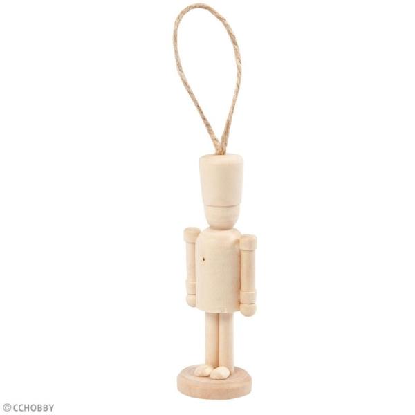 Figurine en bois à décorer - Casse-noisettes - 9 cm - 1 pce - Photo n°2