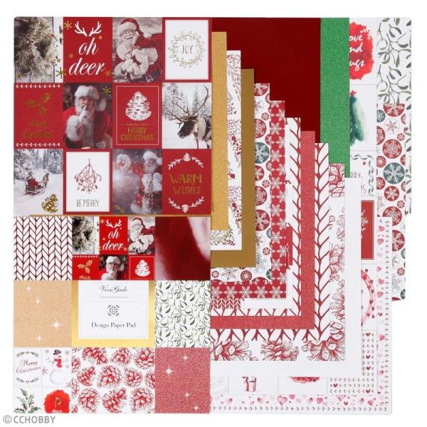 Papier scrapbooking Vivi Gade - Noël  - 30 x 30 cm - 36 pcs - Photo n°3