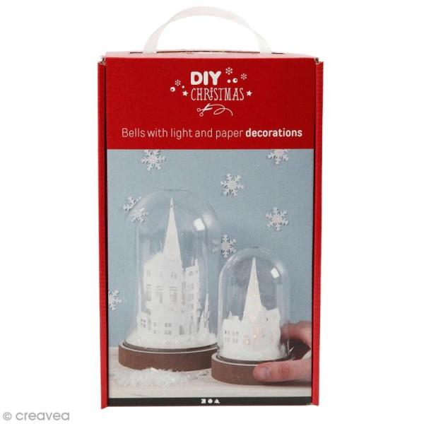 Kit cloche de Noël décorative - 12,5 cm et 18 cm - 2 pcs - Photo n°1