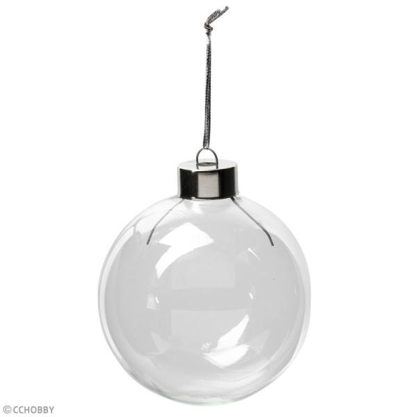 Boules de Noël en verre - 8 cm - 6 pcs - Photo n°3