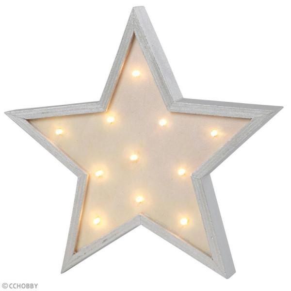 Forme LED en bois à décorer - Etoile - 26 x 26 cm - Photo n°4