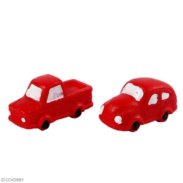 Décoration miniature - Voitures rouges - 2 x 4 cm - 2 pcs - Photo n°2