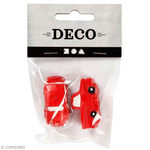 Décoration miniature - Voitures rouges - 2 x 4 cm - 2 pcs - Photo n°1