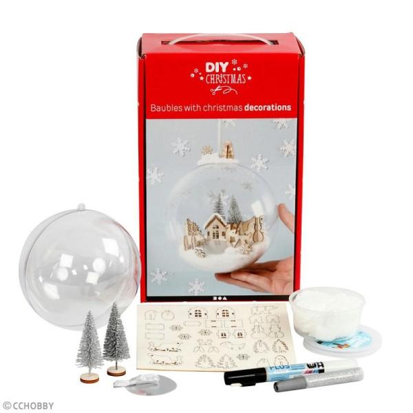 Kit boule de Noël décorative - 13,5 cm - 1 pce - Photo n°2