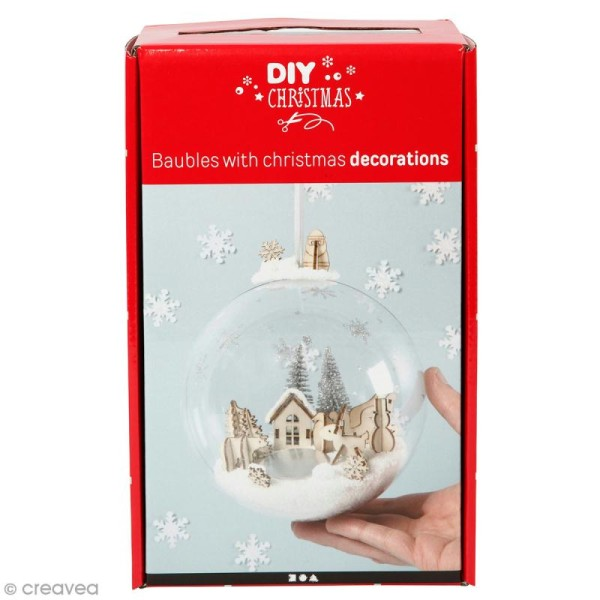 Kit boule de Noël décorative - 13,5 cm - 1 pce - Photo n°1