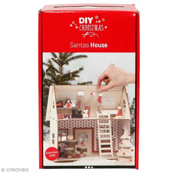 Kit maquette Noël décorative - Maison de Saint-Nicolas - 18 x 27 x 25 cm - Photo n°1