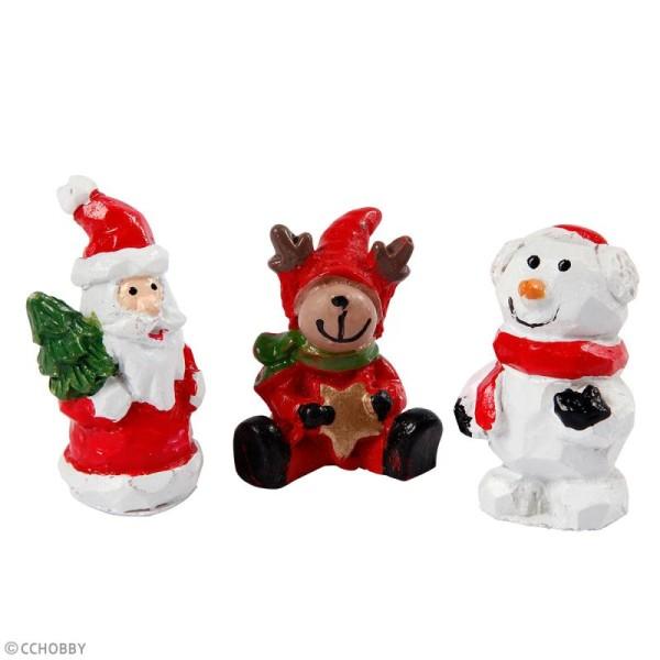 Décoration miniature - Figurines Noël - 3 cm - 3 pcs - Photo n°2