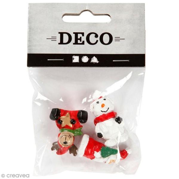 Décoration miniature - Figurines Noël - 3 cm - 3 pcs - Photo n°1