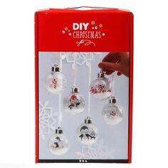 Kit boules de Noël décoratives - 5 cm - 6 pcs