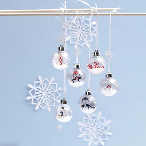 Kit boules de Noël décoratives - 5 cm - 6 pcs - Photo n°4