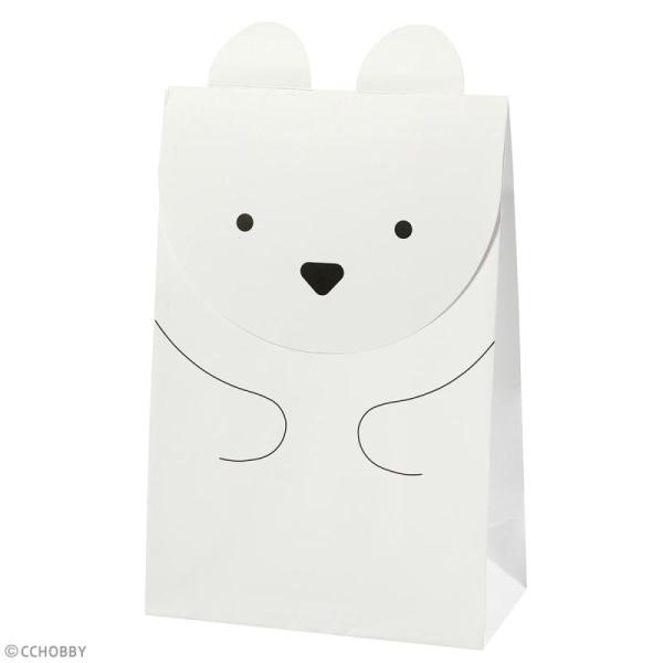 Sachet cadeau papier - Ours polaire - 12 x 18 cm - 6 pcs - Photo n°2