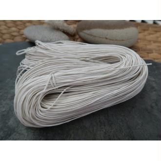Cordon cordelette coton ciré blanc, 1 échevau de 80 mètres/1 mm de diamètre