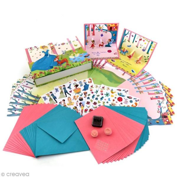 Coffret Ma boîte à cartes - Princesses - Photo n°2