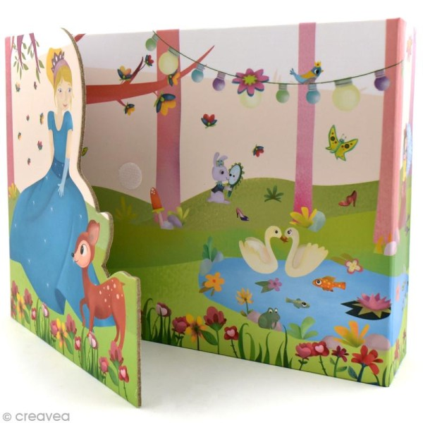 Coffret Ma boîte à cartes - Princesses - Photo n°3