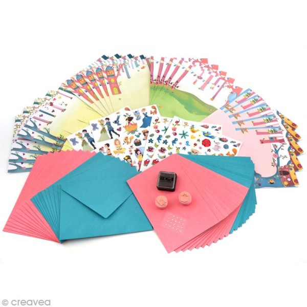 Coffret Ma boîte à cartes - Princesses - Photo n°4