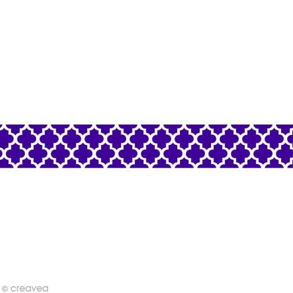 Masking tape Toga - Motif Oriental indigo x 10 m - Photo n°1