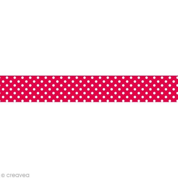 Masking tape Toga - Motif Rouge pois blancs x 10 m - Photo n°1