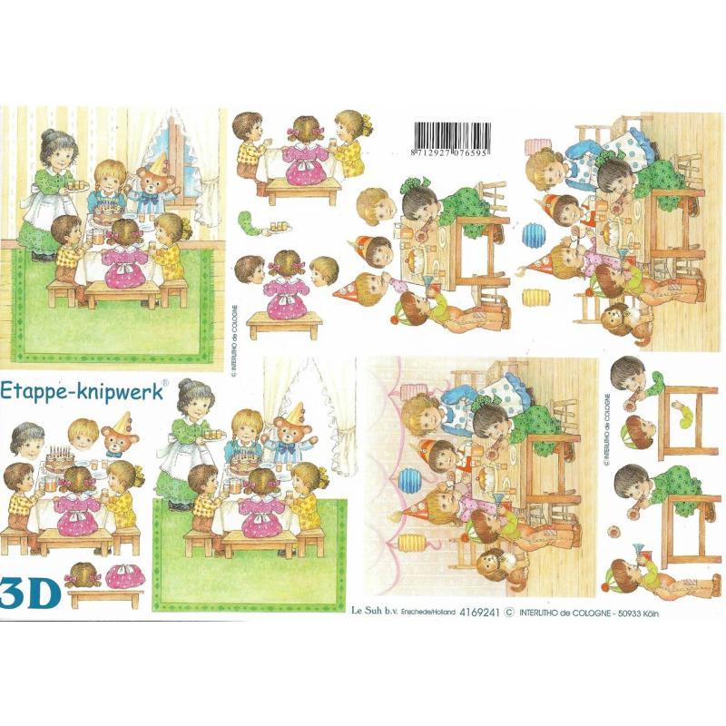 Feuille 3D à découper A4 Anniversaire Enfants - Photo n°1