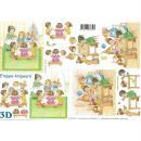 Feuille 3D à découper A4 Anniversaire Enfants