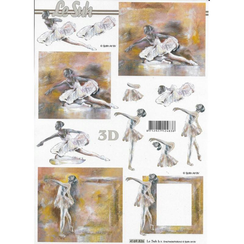Feuille 3D à découper A4 Danseuse - Photo n°1