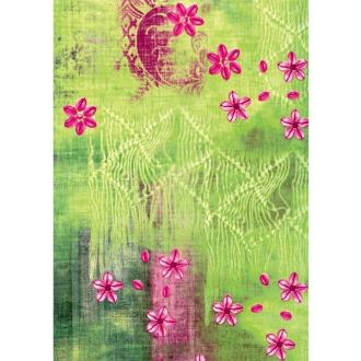 Décopatch Jaune Vert 384 - 1 feuille