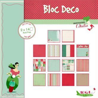 Bloc Déco Toga - Italie - 20 x 20 cm - 28 feuilles
