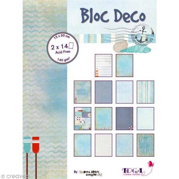 Bloc Déco Toga - Vue sur mer - 15 x 20 cm - 28 feuilles - Photo n°1