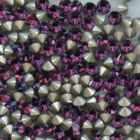 unfoiled 1028 SS47 F u *** 4 STRASS SWAROVSKI FOND CONIQUE 10,70 MM FUCHSIA U