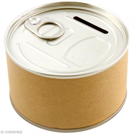 Tirelire bo te de conserve 8 5 x 5 cm diy with toga tirelire d corer - Tirelire boite de conserve ...