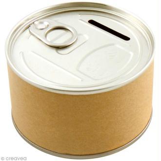 Tirelire boîte de conserve - 8,5 x 5 cm - DIY with Toga