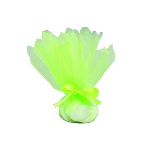 50 Ronds tulle cristal vert anis - Photo n°1