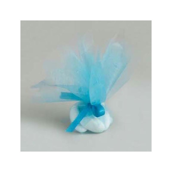 50 Ronds tulle cristal turquoise - Photo n°1