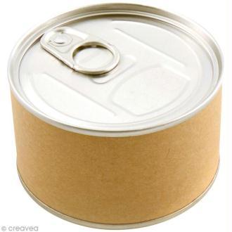 Emballage cadeau boîte de conserve - 8,5 x 5 cm - DIY with Toga