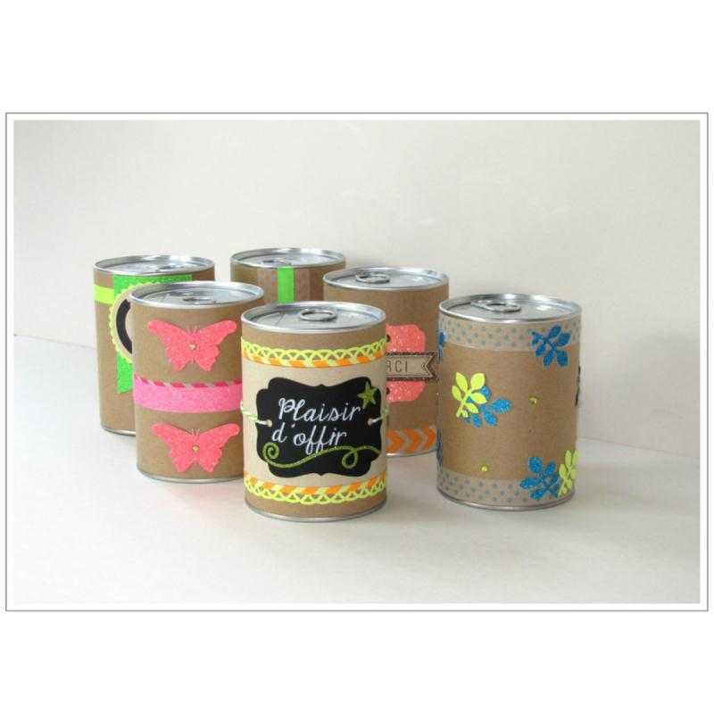 Emballage cadeau bo te de conserve 7 5 x 11 cm diy - Acheter boite de conserve vide ...