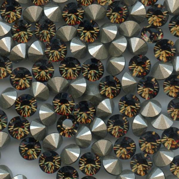 1028 SS34 SQ *** 12 Strass Swarovski  fond conique 7,2mm  SMOKY QUARTZ F