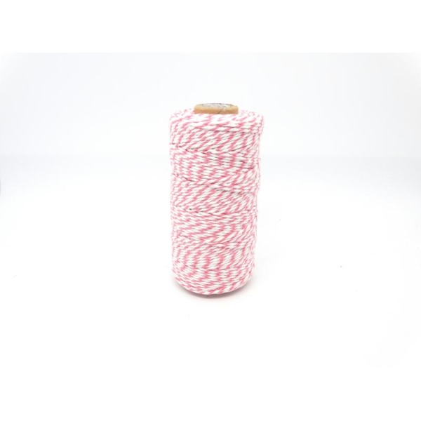 Ficelle bicolore Baker'sTwine - May arts - Rose - Photo n°1
