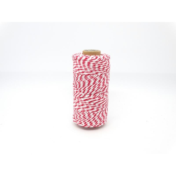 Ficelle bicolore Baker'sTwine - May arts - Rouge - Photo n°1