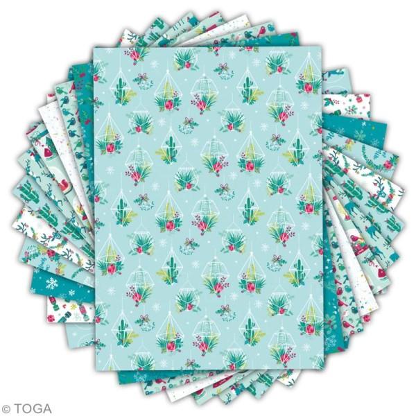 Papier scrapbooking A4 Toga - Color factory - Renne  - 36 pcs - Photo n°2